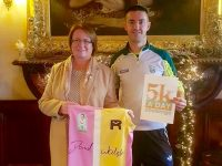 Elma Walsh and Colin 'Poshey' Ahern launching the 5k A Day challenge.
