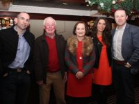 Kieran O'Shea, Jim Moriarty, Anne O'Dwyer, Fiona and Joe Costello at the St Pats GAA fundraiser at Ballygarry House Hotel on Friday night. Photo by Dermot Crean
