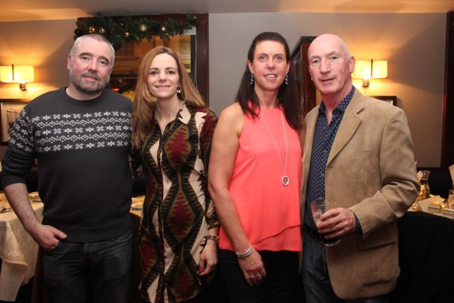 Cathal O'Shea, Caroline O'Shea, Christine Kelliher and Tommy Kelliher from Tralee Boxing Club at Benners Hotel on Saturday night. Photo by Dermot Crean