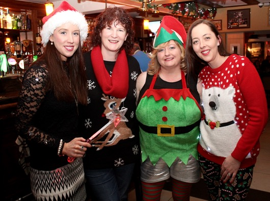Fiona Brick, Karen Dillon, Catherine Gayson and Catriona Roche enjoying a night out at Kirby's Brogue Inn on Saturday night. Photo by Dermot Crean