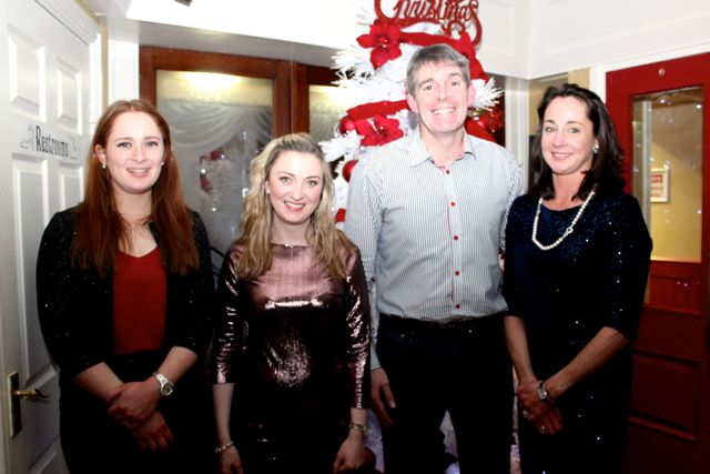 Katie O'Reilly, Grace Griffin, Martin Hartnett and Norma Connolly from Connollys Jewellers at Kirby's Brogue Inn on Saturday night. Photo by Dermot Crean
