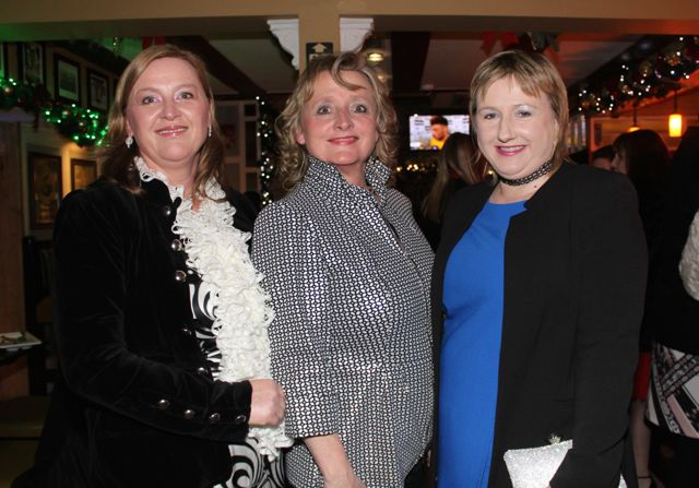 Denise O'Connell, Mary Lawless and Margaret Ahern of the HSE at Kirby's Brogue Inn on Saturday night. Photo by Dermot Crean