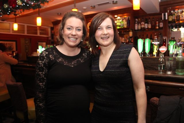 Ciara Kane and Lynn Swinburne of the HSE at Kirby's Brogue Inn on Saturday night. Photo by Dermot Crean