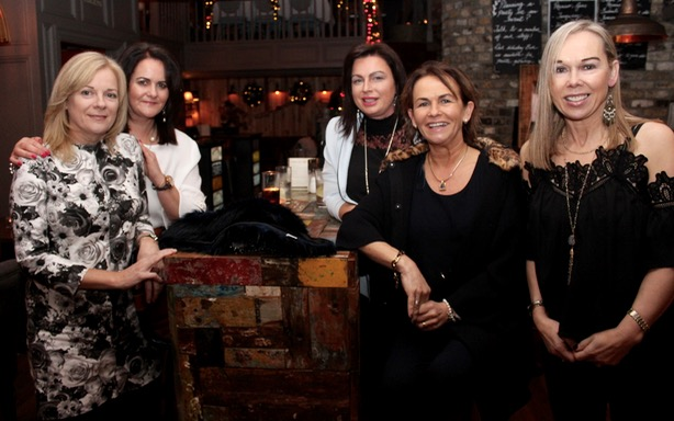 Corinna O'Halloran, Sinead O'Halloran, Lorraine Conroy, Tina Kearney and Jacqui O'Carroll enjoying a night out at No.4 On The Square on Saturday night. Photo by Dermot Crean