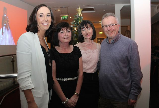 Maura O'Donnell, Noreen O'Leary, Catriona Mulvihill and Brian Foley from Specsavers at Il Forno, Courthouse Lane, on Saturday night. Photo by Dermot Crean