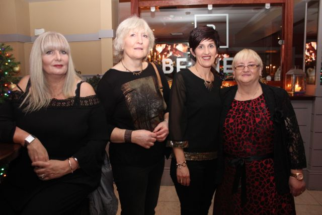 Pauline Bateson, Ellen Dillane, Kathleen Counihan and Noreen Dennehy from St Louis Nursing Home at Benners Hotel on Saturday night. Photo by Dermot Crean