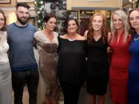 Caroline O'Shea, Jonathan Silles, Lucy Horan, Marion Long, Aoife Newell, Yvonne Duggan and Mary Smullen of E-Fitness at John Mitchels at Kirbys Brogue Inn on Friday night. Photo by Dermot Crean