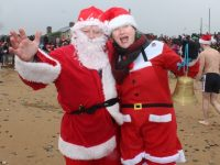Santa and Mrs Claus at the Christmas Swim in Fenit on Sunday. Photo by Dermot Crean
