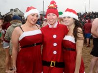 Joanna, Judy and Gabrielle Walsh at the Christmas Swim in Fenit on Sunday. Photo by Dermot Crean