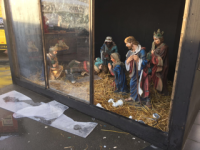 Crib In The Square Damaged Again Overnight