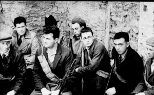The local brigade in their headquarters in The Dawn Davie Hurley, Pat O'Meara, dado Hurley, Paddy Looney and Vince Doyle which was released in 1936. Photo off original film by Michelle Cooper Galvin