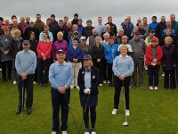 Pictured at the Castlegregory Golf Club's captains drive-in on Sunday were incoming captains Tommy King and Geraldine Flynn. Also in picture Eddie Hanafin, Mens President and Mary Callanan, Ladies President.