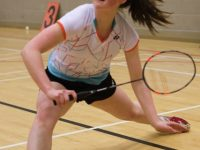 Niamah Flaherty (Moyvane) on her way to winning the Division 1 final.