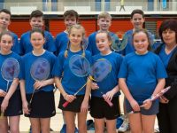 Un 13 Team,is as follows, Front Row, L/R: Ava McGovern, Ciara Knightly, Deina Vesco, Ellie Ava Liston, Ava McKay. Back Row, L/R: Tomás O'Sullivan, Eddie Healy, Tom Hoare, Tomás Ashe, Liam Newson, Mary Falvey(Manager).