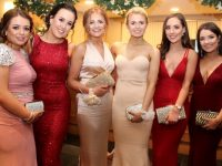 Hannah Edwards, Anne Dowling, Sinead Shanahan, Nora Courtney, Jenny Godley and Amy Shalvey at the Mercy Mounthawk students Debs Ball at Ballyroe Heights Hotel on Thursday night. Photo by Dermot Crean