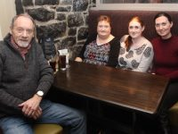 John Healy, Jennifer Healy, Claire Ali and Caroline Bulman at a table quiz in aid of Recovery Haven on Thursday night at Kirbys Brogue Inn. Photo by Dermot Crean