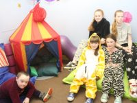 Pupils in the multi-sensory room at St John's Parochial School. Photo by Dermot Crean