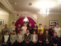 St Pat's U16 Medal Presentation with Paul Geaney, who presented the medals