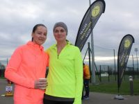 Orla Brosnan and Oonagh McGibney at the Tralee Triathlon Club Aquathon event at Tralee Sports and Leisure Centre on Sunday. Photo by Dermot Crean