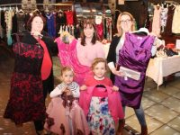 Little Nicola and Emily Corridon with Maura O'Donnell, Collette Price and Nora Corridon at the Fashion Sale for St Brendan's NS Blennerville on Saturday. Photo by Dermot Crean