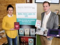 Joanna and Derek Kelly of Digital Greetings, based at HQ Tralee. Photo by Dermot Crean