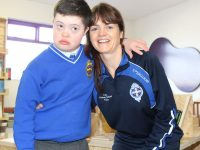 Cian Heaslip and Noreen O'Halloran at the official launch of 'Full Stop'. Photo by Lisa O'Mahony.