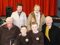 John O'Donnell, Irene O'Donnell, Bridget Thoirbeairt and Brendán Thoirbeairt with grandchildren Cillian Ó'Donaill and Brían Ó'Donaill at Gaelscoil Mhic Easmainn . Photo by Lisa O'Mahony.thoirbeart