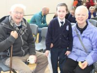 Denis O'Regan, Emily O'Regan and Helen O'Connor at Blennerville National School's annual grandparents Day on Wednesday. Photo by Lisa O'Mahony.