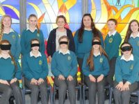 Fourth Year Student of Mercy Secondary School MountHawk with their Teacher Ann O'Shea Daly. Photo by Lisa O'Mahony.