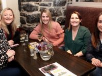 Sandra Bunyan, Ruth Falvey, Norah Gibbons, Lisa Kelly and Michelle Fitzgibbon at the Darkness Into Light Tralee  table quiz at Kirbys Brogue Inn on Thursday night. Photo by Dermot Crean