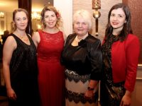 Miriam, Aisling and Breda Murphy with Sarah Wilson at the 'Valentines With A Difference' event in aid of Recovery Haven at The Rose Hotel on Tuesday night. Photo by Dermot Crean