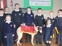Students of Spa National School ahead of the fundraiser 'Night at the Dogs'. Photo by Lisa O'Mahony.
