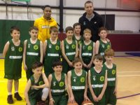Tralee Warriors Trae Pemberton and Goran Pantovic with the Under 11s.