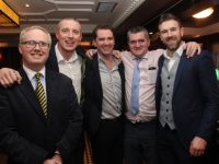 Paul Stephenson, Kieran Donaghy, Ger Teahon, Eoin Kelliher and Daniel Bohane at the Austin Stacks GAA Corporate Lunch at Ballygarry House Hotel on Friday. Photo by Dermot Crean