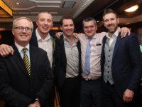 Paul Stephenson, Kieran Donaghy, Ger Teahon, Eoin Kelliher and Daniel Bohane at the Austin Stacks GAA Corporate Lunch at Ballygarry House Hotel on Friday. Photo by Dermot Crean