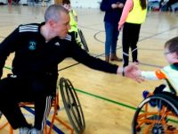 Kieran Donaghy with Jack Houlihan at the Kingdom Wheelblasters hosted blitz on Sunday.