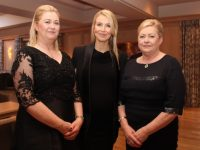 Angela Ring O'Donoghue, Gemma Ring and Noreen Ring of Munster Joinery  at the Business Leaders Ball at Ballygarry House Hotel on Thursday night. Photo by Dermot Crean