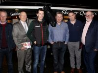 Tom Cooper, Dick O'Sullivan, Bryan Cooper, Tom Quane, Conor O'Neill and Murt Murphy at the Cheltenham Preview night at Skelper Quane's Bar on Thursday night. Photo by Dermot Crean