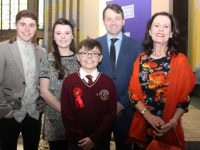 Ben Hanafin, who made his Confirmation, with DJ, Carla,  Denis and Linda Hanafin at Our Lady and St Brendan's Church on Thursday. Photo by Dermot Crean