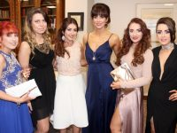 Katie Slattery, Indre Bunikyte, Emer Kemple, Jamie Louise Bowler, Claire O'Sullivan and Sandra Coffey of Sean Taaffe, Tralee, at the Connect Kerry Hair and Beauty Awards at The Rose Hotel on Sunday afternoon. Photo by Dermot Crean