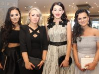 Zoe O'Carroll, Sarah Thornton, Maureen McCarthy and Kayleigh Murphy of Brush N Blush, at the Connect Kerry Hair and Beauty Awards at The Rose Hotel on Sunday afternoon. Photo by Dermot Crean