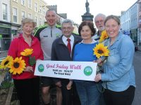 Mairead Fernane, Kerry Hospice Foundation, Kieran Donaghy, Ted Moynihan, Chairman of Kerry Hospice Foundation and Kerry Person of the Year, Mary Shanahan, Kerry Hospice Foundation, Michael Ó'Súilleabháin, Andrea O'Donoghue, PRO of the Kerry Hospice Foundation at the Launch of the Good Friday Walk. Photo by Lisa O'Mahony.