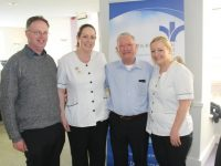 Fr Pat Crean Lynch, Sandra Cronin, Gerard Mannix, and Eilish Carmody at the Bon Secours Hospital on Wednesday. Photo by Lisa O'Mahony.