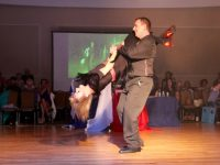 Paul Ryan and Claire Molloy performing in the Kerins O'Rahillys GAA Strictly Come Dancing. Photo by Dermot Crean