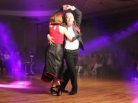 Ogie Moran and Eileen O'Shea performing in the Kerins O'Rahillys GAA Strictly Come Dancing. Photo by Dermot Crean