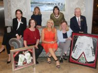 Madeline Doyle, Aileen Diggins, Miriam O'Callaghan, Andrea O'Donoghue, Mark Sullivan, Aine Moriarty and Linda McMahon at the launch of the Midsummer's Ball at the Rose Hotel on Wednesday. Photo by Lisa O'Mahony.