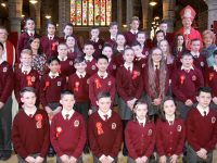 Mercy Moyderwell pupils who were confirmed on Thursday at St John's Church. Photo by Dermot Crean