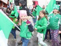 Na Gaeil girls taking part in the parade. Photo by Dermot Crean