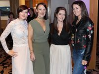 Catherine Summers, Sarah Doherty, Paula McSweeney and Aisling Crowley at the 'Rags to the Runway' event at Ballyroe Heights Hotel on Saturday night. Photo by Lisa O'Mahony.
