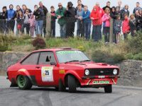 Mick Quinn in his Ford Escort.